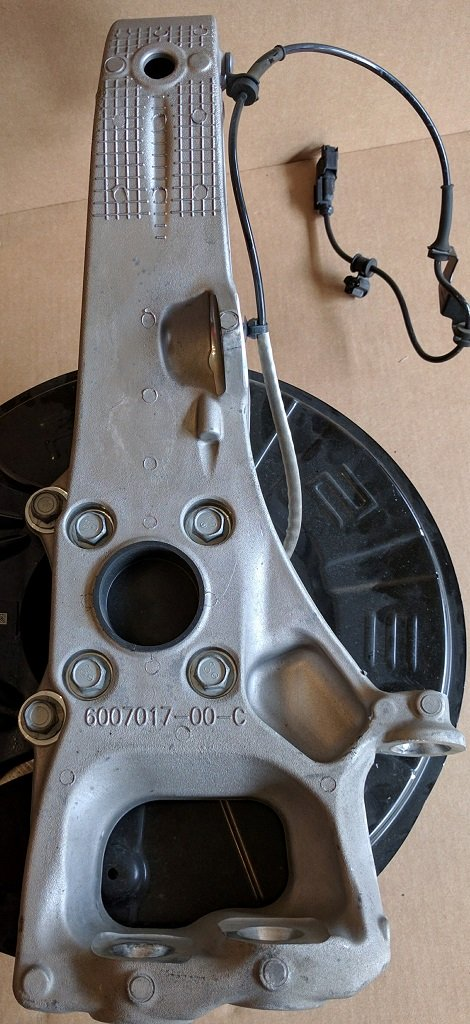 Front Upright/Knuckle, Left, Model S